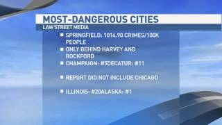 Springfield Ranks 3rd Dangerous City In IL
