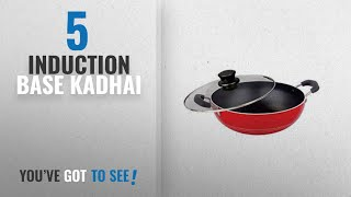 Top 10 Induction Base Kadhai [2018]: Nirlon Non-Stick Aluminium Kadhai, 3 Litres, Black (induction