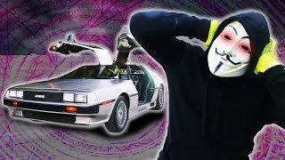 HACKER PROOF CAR!? PZ4 Unmasked & Face Reveal near Delorean