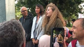 A Nantes, la jeune palestinienne Ahed Tamimi à la rencontre des militants