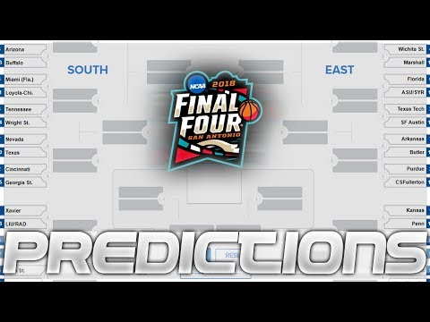 2018 March Madness Bracket Predictions!!!