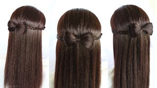 hairstyle for girls || bow || how to make hair bows || headband || hairstyle || simple hairstyle