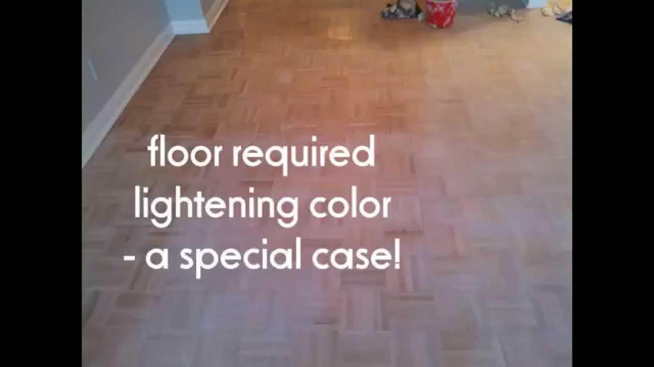 Refinishing Pickled Wood Floor Parquet Floor