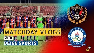 Legon Cities vs Great Olympics - MatchDay Vlog + Wendy Shay + Highlights + Fans' Reactions