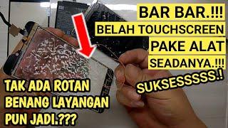 CARA MEMISAHKAN LCD TOUCHSCREEN HANYA DENGAN BLOWER DAN BENANG || JKS opreker handphone