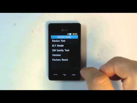 Lg T375 Cookie Smart - How to reset - Como restablecer datos de fabrica