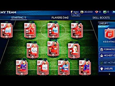 RONALDO CELEBRATION IN FIFA 19 MOBILE -HIGHEST OVR Elite Team and Packs opening fifa 19 Mobile Beta