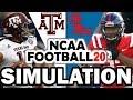 Texas A&M @ Ole Miss (10-19-2019) Simulation - NCAA Football 20