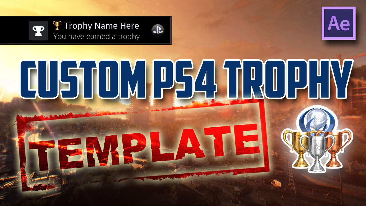 custom ps4 trophy effect adobe after effects tutorial free