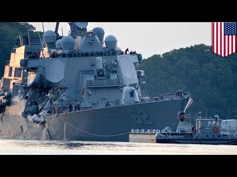 USS Fitzgerald crash: Bodies of missing sailors found in flooded compartments- - TomoNews