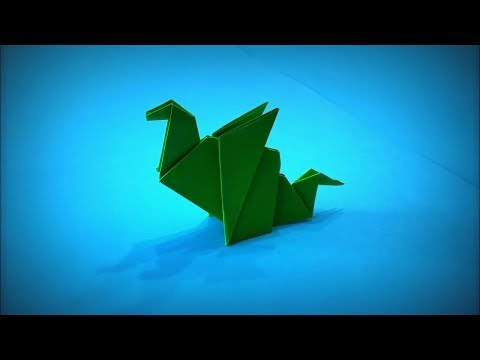 How to Make a Paper Dragon (Paper Godzilla) DIY - Easy Origami ART