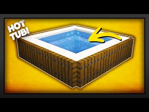 Minecraft - How To Make A NEW Working Hot Tub