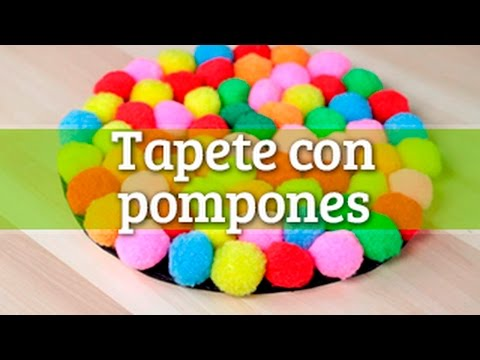 C mo hacer tapete con pompones youtube - Manualidades con pompones ...