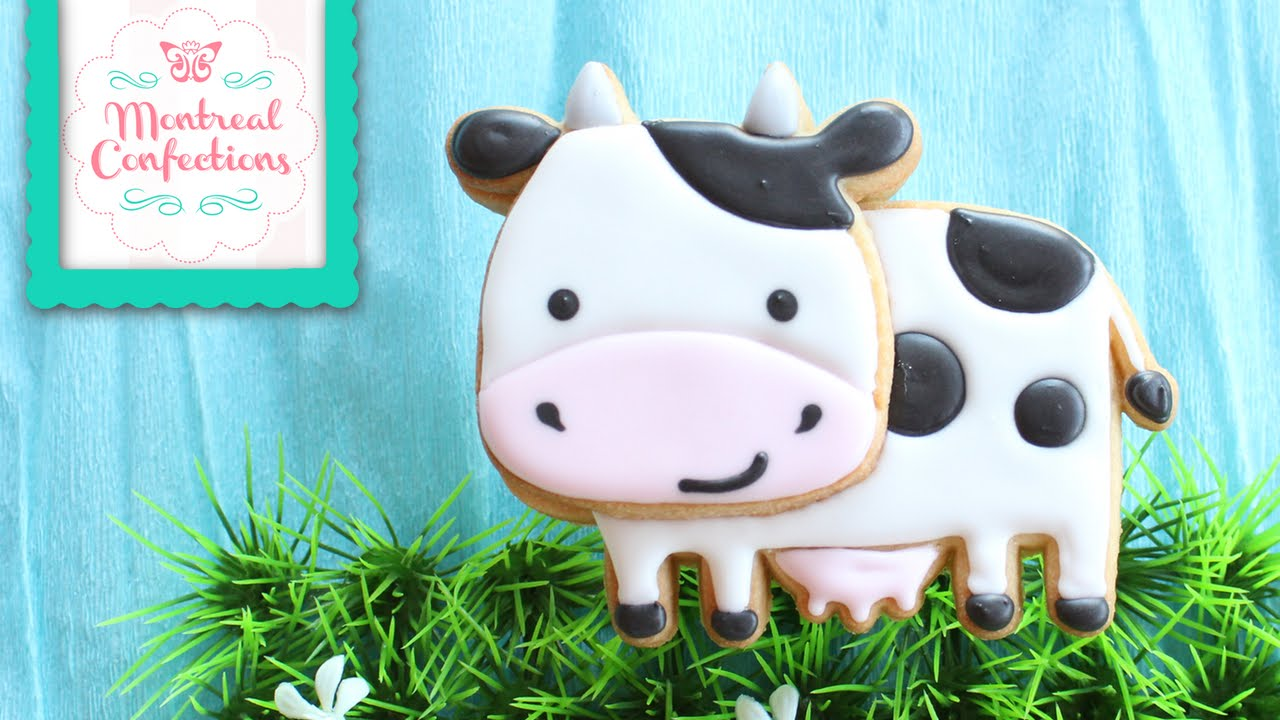 How to Make Cow Cookie - Farm Themed Cookie