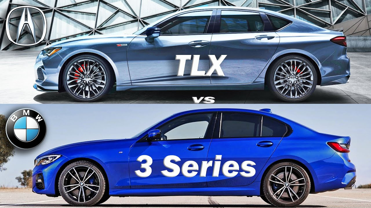 2021 Acura TLX vs BMW 3 series, BMW 3 vs TLX - visual ...