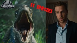 The 11 Dinosaur Species - Why That Specific Number? | Jurassic World Fallen Kingdom Theory