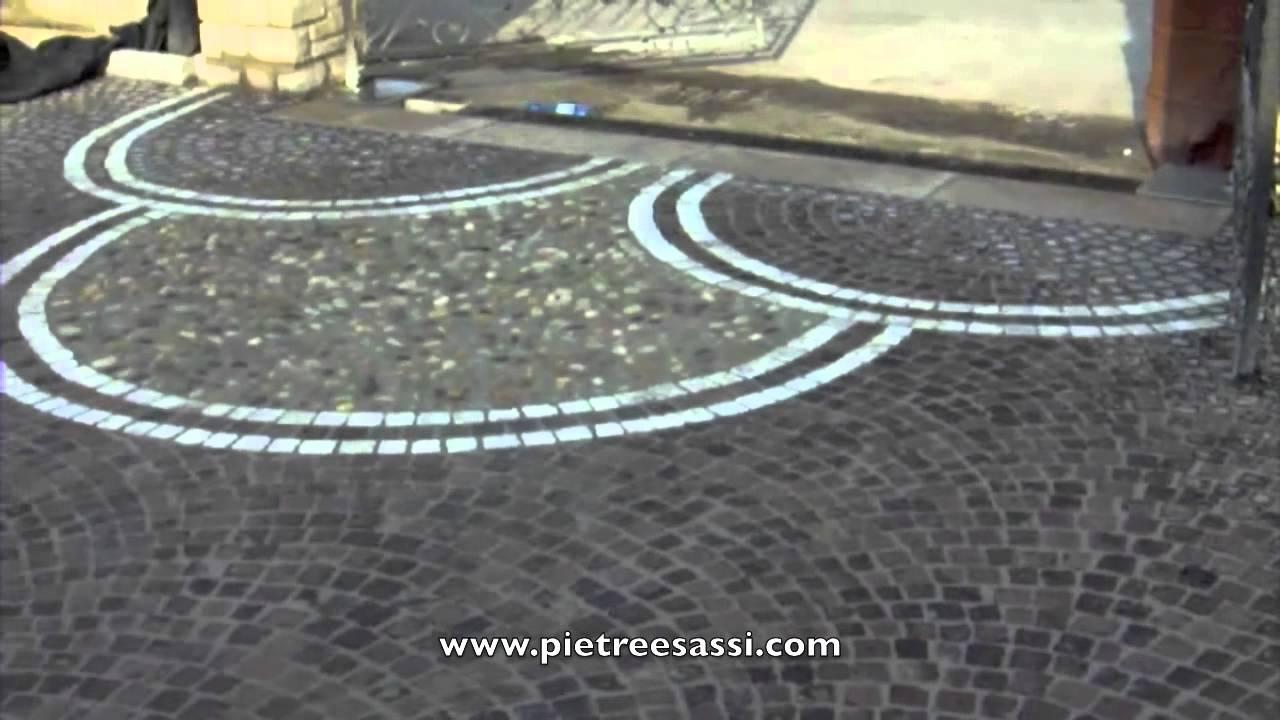 Pietreesassi pavimento esterno in cubetti di porfido e for Pavimento esterno in porfido