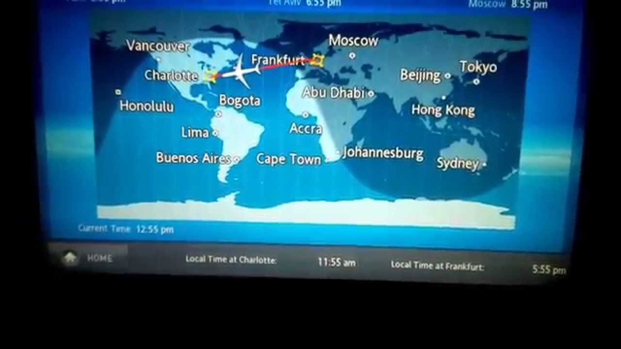 TITANIC  On US Airways Flight Map Frankfurt To Charlotte - Us airways travel map