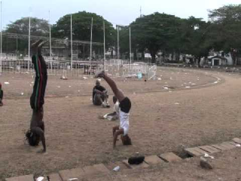 Abibifahodie Capoeira March 11, 2012 End of class roda Accra Ghana