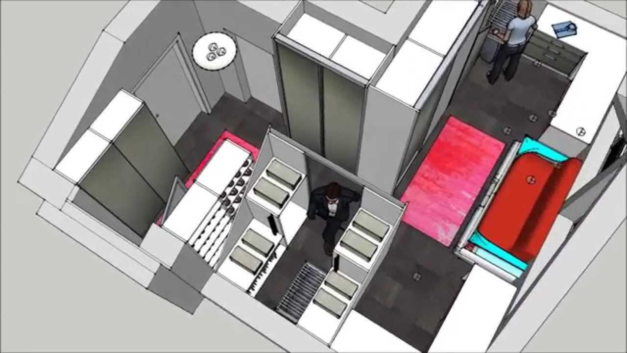 dachgeschoss begehbarer cabinet kleiderschrank von d rr. Black Bedroom Furniture Sets. Home Design Ideas