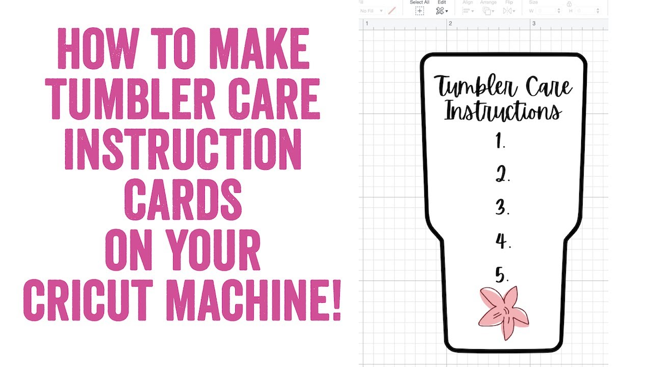 How To Make Tumbler Care Instruction Cards Using Your Cricut Machine Youtube