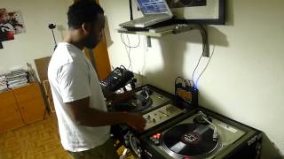 "Frontin hard on the decks.... (DJ Revolution cutting on ""The Radar"" Port Authority Album)"