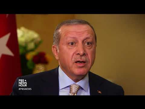 Erdogan questions why U.S. has armed Syrian Kurdish 'terrorists,' disputes claims of dictatorship