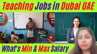 BEST TIME FOR TEACHING JOBS IN DUBAI UAE !!!