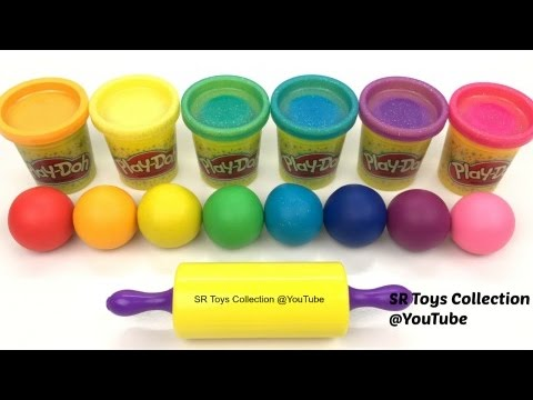 Thumbnail: Learn Colours Play Doh Balls Animals Elephant Lion Molds Surprise Toy Splashlings Creative for Kids