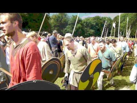 Viking Warriors leave the Battlefied, Aarhus Denmark July 31, 2016