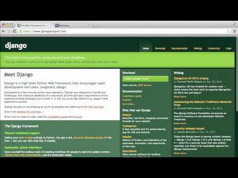 Django Tutorial -- Mac Setup (2 of 7) Django Bootstrap || Coding for Entrepreneurs