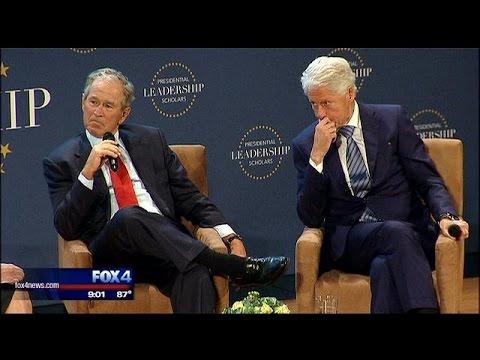 Former presidents G.W. Bush, Clinton speak at Dallas event