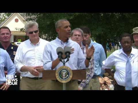 Watch President Obama speak from Louisiana