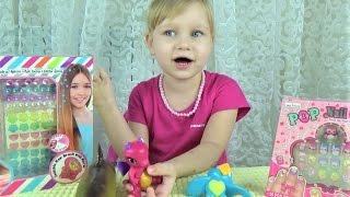 Украшаем волосы и пальчики!!! Развлечения для детей !!! Детские наборы игрушки как у мамы