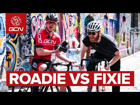 Roadie VS Fixie | GCN's Bicycle Courier Challenge thumbnail