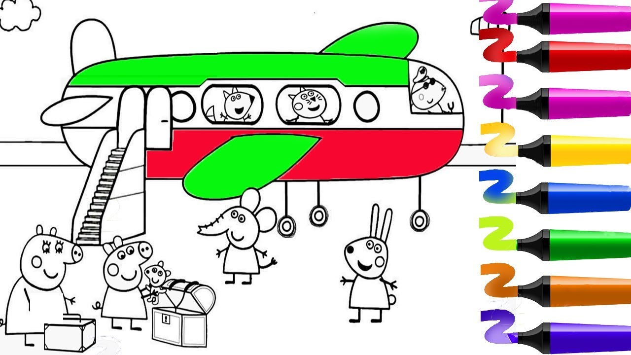 Coloriage Peppa Pig Coloriage Peppa Pig L Avion Coloriage Peppa Peppapigenfrancais Youtube