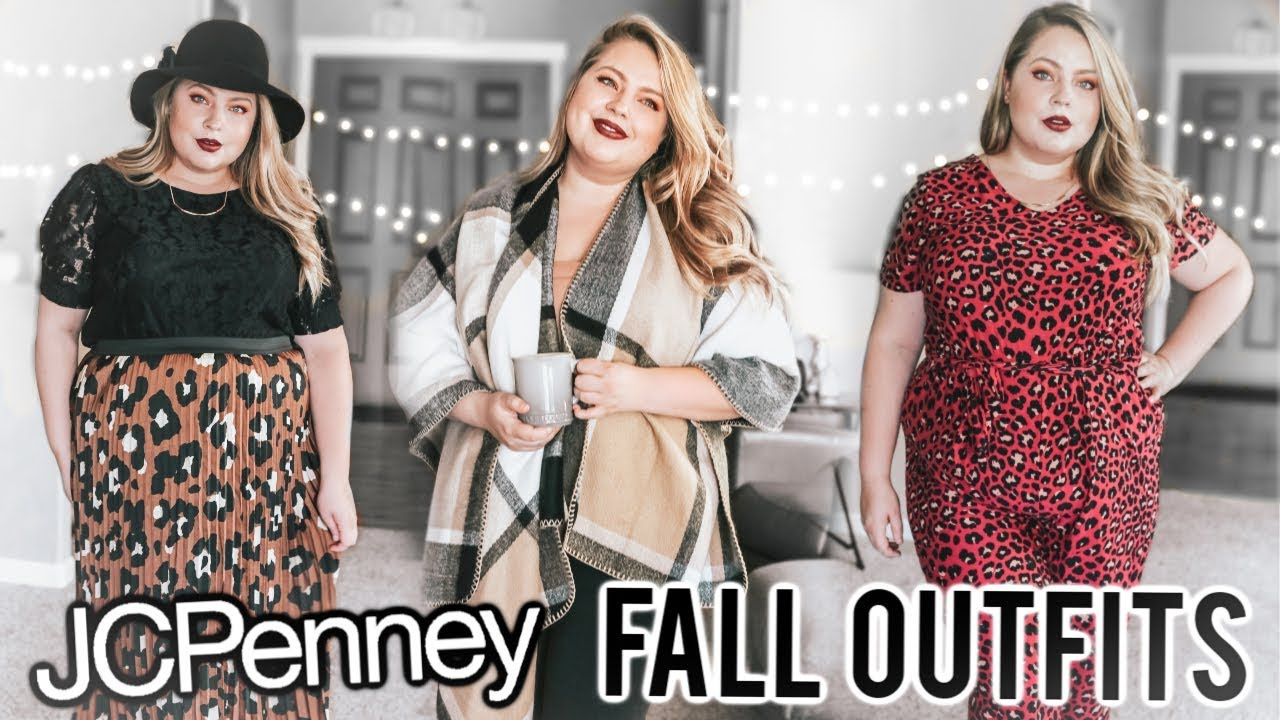 [VIDEO] - FALL OUTFITS AT JCPENNEY | PLUS SIZE FASHION HAUL 1