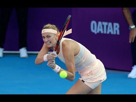 2018 Qatar Total Open First Round | Petra Kvitova vs. Cagla Buyukakcay | WTA Highlights