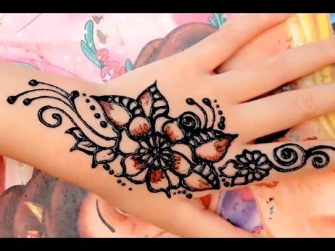 Gambar Henna Tangan Simple Banget