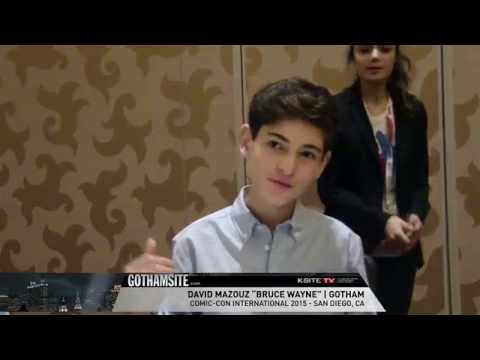 SDCC 2015: David Mazouz (Bruce Wayne) of Gotham - BATMAN