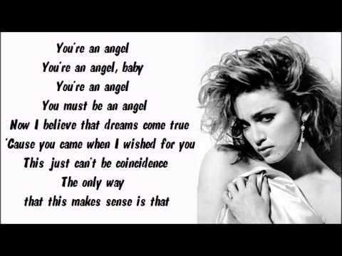 Madonna - Angel Karaoke / Instrumental with lyrics on screen