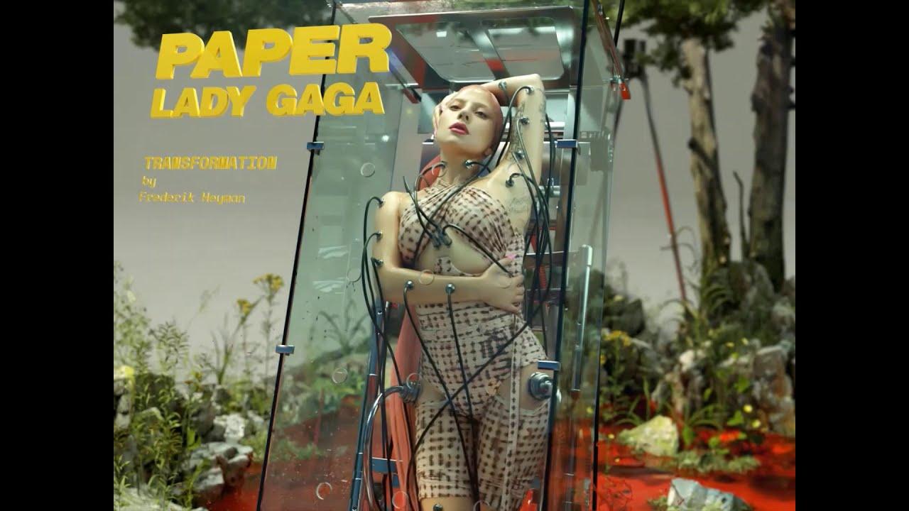 Lady Gaga Paper Magazine 3d Photoshoot By Frederik Heyman