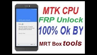 All MTK Android Frp (Google Lock) Remove Without OTG & Box