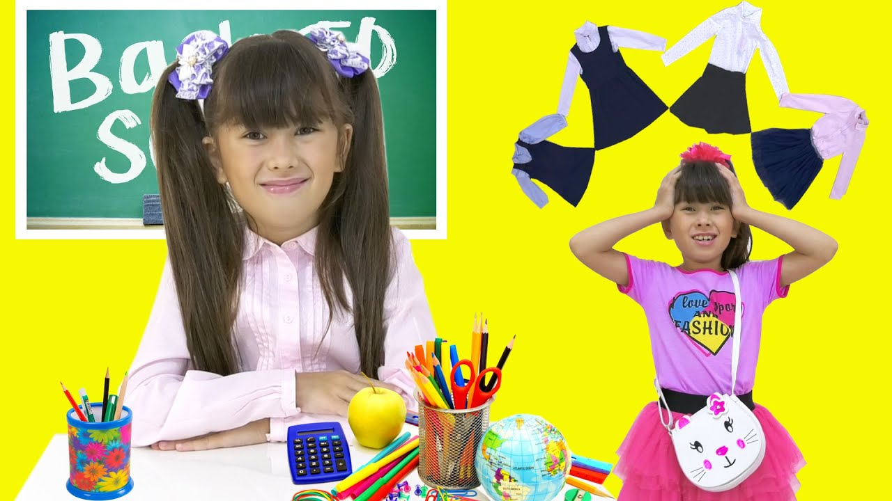 Angela like Abby Hatcher back to school - school rules. Stories for kids