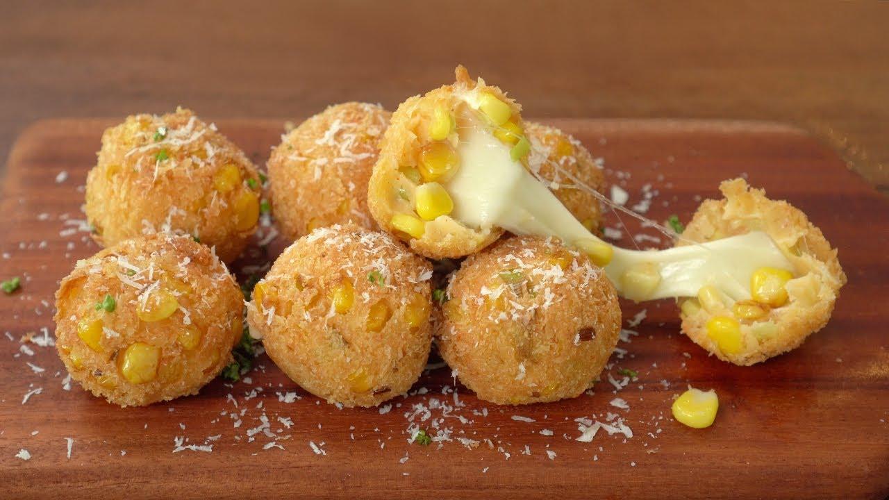 콘치즈볼 황금비율 레시피 :: 맛이 환상, 감자치즈볼 만들기 :: No Eggs :: Corn Cheese Ball Recipe :: Potato Cheese Ball
