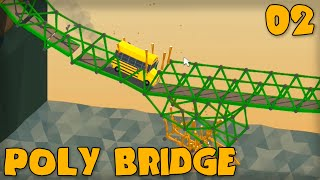 "Poly Bridge Gameplay Part 2 - ""oh No The School Bus!!!"" (bridge Building Game)"