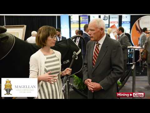 Magellan Gold Pres and CEO,  Pierce Carson at the IMWC in Vancouver...