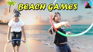 BEACH GAMES Challenge l funny videos 2019 l Ayu And Anu Twin Sisters