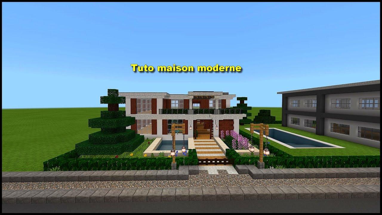 Tuto Maison Moderne Minecraft Ps4 Fr Youtube