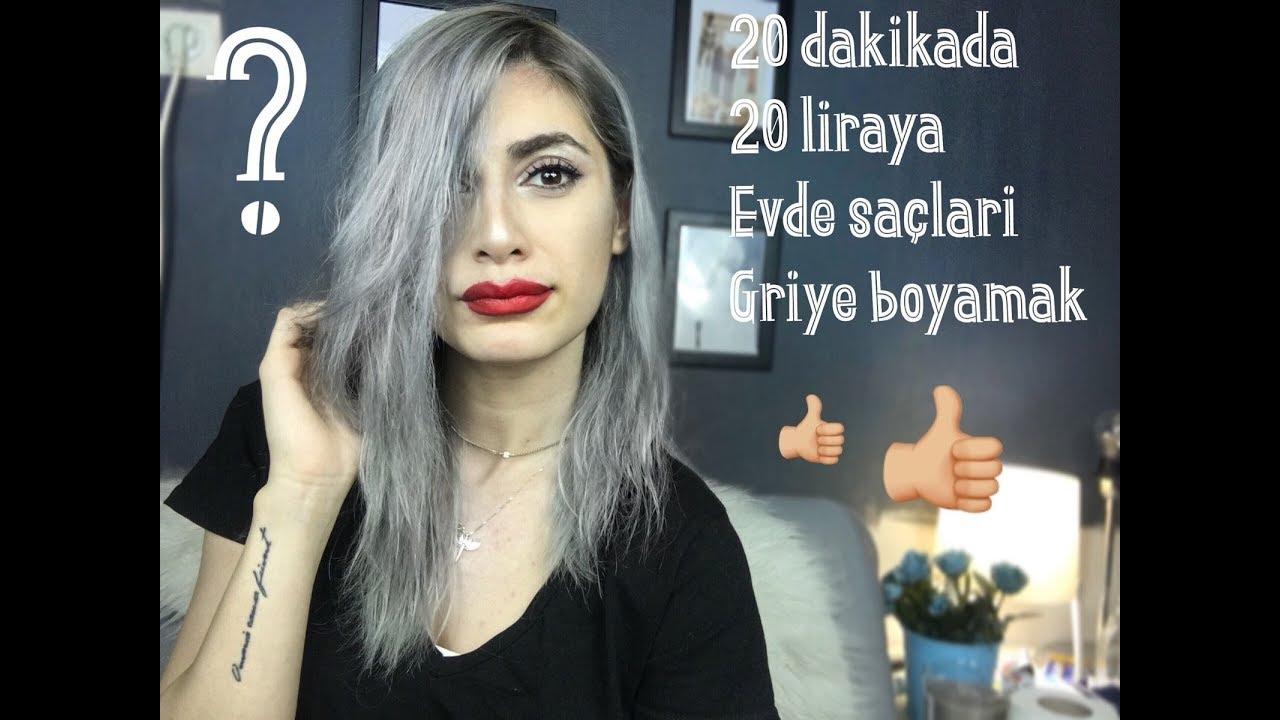 Sadece 20 Dkya Ve 20 Liraya Evde Gri Saç Boyama Youtube